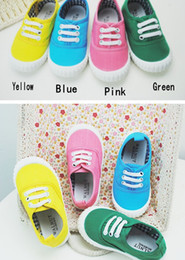 Wholesale Candy jelly color children canvas shoes soft bottom shoes for boys and girls little kids shoes baby shoes