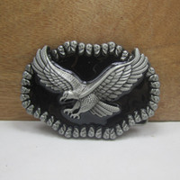 Alloy alloy western buckles - BuckleHome Eagle belt buckle western belt buckle with pewter finish FP with continous stock
