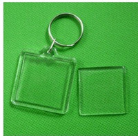 Wholesale Blank Acrylic Square Keychains Insert Photo Keyrings Key ring chain quot x quot