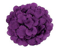 Wholesale 1500pcs Hotsale Deep Purple Silk Rose petal for weddings decoration throwing flowers silk petal bags bag