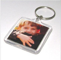 acrylic keyring blanks - Blank Acrylic Square Keychains Insert Photo Keyrings Key ring chain quot x quot
