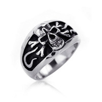 Celtic Gift Silver Plated Free Shipping Guarantee100% AAA+++ Hot-sales brand new 316L Stainless Steel Vintage polishing Silver Handmade Pirate- bless ring R-110