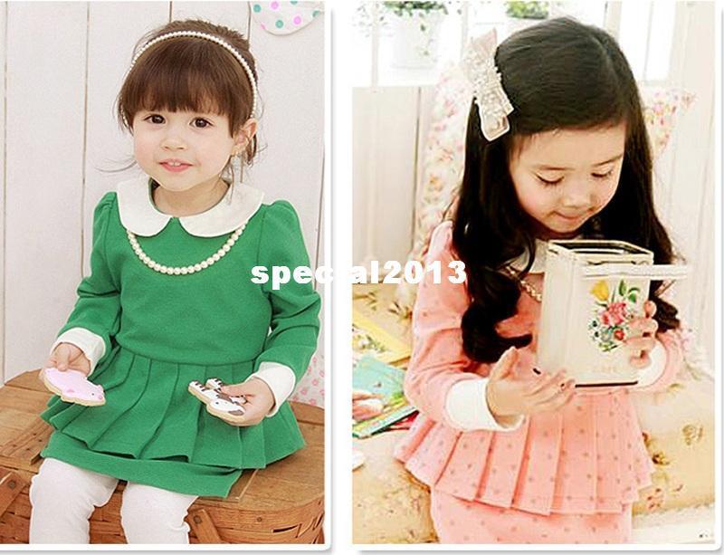 2017 2013 Korean Style Kids Girl Cute Winter Dress Children 39 S Clothing Girl Long Sleeve Dress