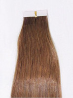Wholesale quot Remy tape skin weft human hair extension light Brown g bag g bag