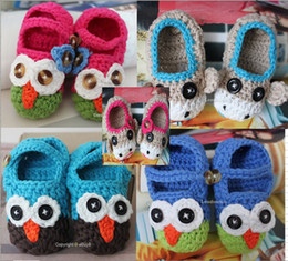 Wholesale Handmade Owl Monkey Crocheted Baby Shoes for baby booties soft Mts etx