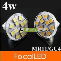 Wholesale 12V MR11 GU4 MR16 W SMD LED light bulb Pure Warm White k CE amp ROHS