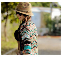 as the picture straw hats - Summer leisure colorful decorative pattern woven straw hat hand hemp straw hat Cap Handmade