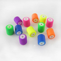 Acrylic, Plastic, Lucite Round shape Free shipping HOT ! 10mm*7.5mm cute candy color DIY Acrylic Rubber Neon matte round tube barrel spacer loose beads 300pcs lot