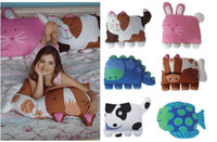 Wholesale Children s Nursery Bedding Hot sale popular Classic animals modelling bed sofa children Pillows baby Hold pillow style QS145