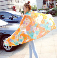 Wholesale New Style Scarf Sarongs Brisk Flowery Pattern Scarves Chiffon Printed Scarfs