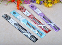 Wholesale 100Pair East Meets West Stainless steel chopsticks Chinese Asian wedding favors guess gifts