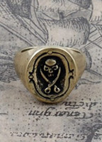 Wholesale Pirate Design Punk Bronze Men s Ring u7 WWK