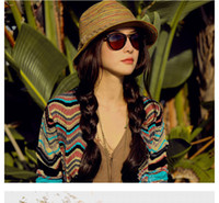 Wholesale women summer stingy brim hat beach Bohemian caps