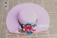 Wholesale thickened sun hat beach hat big eaves fashion LADY LOVEY Panama big straw hat color of