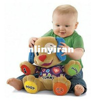 Wholesale Hot sale Fisher price English version plush toys love dog Singing English Songs doll