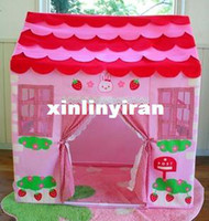 Wholesale Free shiping The little princess children tents dollhouse game house strawberry rabbit