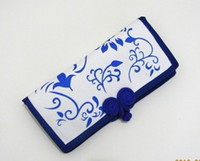 Wholesale Lady Wallets Restore ancient ways Chinese Style hand painted canvas Purse Printing wallets