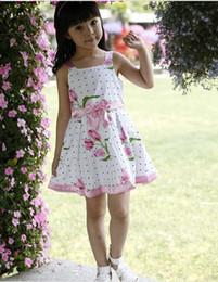 Wholesale Children Dresses Girls Advanced Floral Yarn Angel Rose Great Skirt Loving Bow summer dress sundress