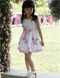 Wholesale 2013 New Fashion Children Dresses Girls Advanced Floral Yarn Angel Rose Great Skirt Loving Bow summer dress