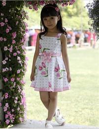 Wholesale Children Dresses Girls Advanced Floral Yarn Angel Rose Great Skirt