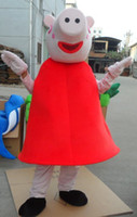 Mascot Costumes Unisex Costum Made New Version Peppa Pig Costume Pink Pig Mascot Halloween Mascots Adult Fancy Dress Party Performance Suit