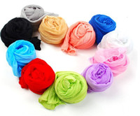 as the picture Yarn Dyed Head Gauze Fabric Womens scarf candy color silk Lady scarves sweet candy wrinkled scarves
