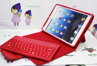 Wholesale Portfolio Book Wireless Bluetooth Keyboard Folding Leather Case for iPad Mini