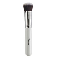 advanced wood - Advanced Synthetic Fiber Round Top Foundation White Handle Brush