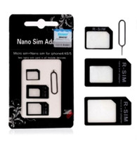 Wholesale in Nano Micro Sim Card adapter Noosy sim adapter for iPhone s with retail package