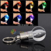 Wholesale Change Color LED Flashlight Light Mini Bulb Key Ring Keychain Lamp Torch TV162 DHL free