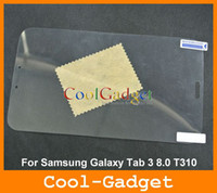 Wholesale Clear Screen Guard Protector film Cover for Samsung Galaxy Tab T310 no Retail Package MSP686