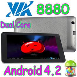 10Pcs 7 pouces VIA8880 Dual Core Android 4.2 capacitif Multi Touch Tablet PC HDMI Wifi double caméra Play Store WM8880 VIA 8880