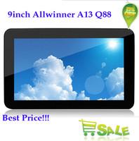 Precio de Tablet 9 inch-9 pulgadas A13 Tablet pc PD60 Android 4.0 Capacitiva de 9 Pulgadas Allwinner Q88 512M 8GB de apoyo dongle externo 3G 20pcs