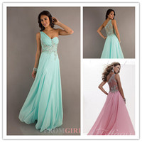 2013 Newest Cheap Fashion One Shoulder Chiffon Lace Backless...