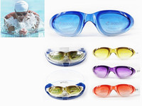 Wholesale High Definition Gradient Ramp High quality Antifog waterproof PC Swimming Mirror Swimming Glasses Goggles For Adult Retail Box
