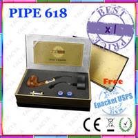 Wholesale 1 set pipe e pipe Electric Smoking Pipe With Nice Gift Box No Second Hand Smoke No Cigarette Smell