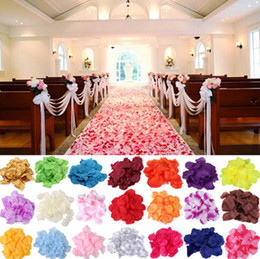Wholesale 1500pcs Rainbow colorful flower petals bulk silk rose petals wedding accessories bags bag