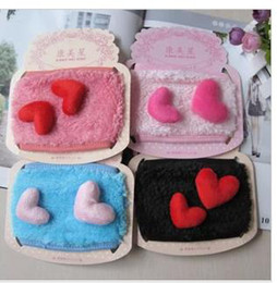 Wholesale Stereo hearts love girls hearts pure cotton masks line warm warm wind cycling masks