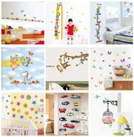 Wholesale Mix order Kids Wall Stickers Decals Nursery Wall Art Decal Sticker Decor x60cm