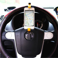 apple navigator - FREE DHL Smart buckle Hands free Abs GPS Navigator Steering Wheel Stand Universal Car mobile cell phone holder wp8 For Apple iPhone G S