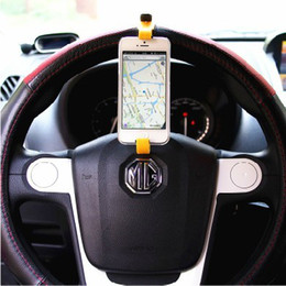 FREE DHL Smart buckle Hands-free Abs GPS Navigator Steering Wheel Stand Universal Car mobile cell phone holder wp8 For Apple iPhone 5 5G 5S from mobile navigator iphone manufacturers