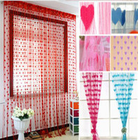 Wholesale New STRING Curtain Love Heart Drapes Panel Blinds Door Room Patio Divider Assorted colors