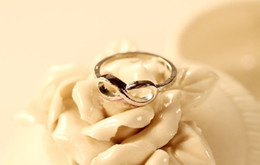 10PCS Fashion Silver Tone Infinity Finger Rings #23333