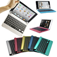 Wholesale Slim Aluminum Wireless Bluetooth Keyboard Case Smart Cover For Apple iPad Mini