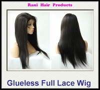 Wholesale Rani Hair Real Images Brazilian Human Hair Glueless Full lace wigs Color B off Black Inch YAKI Straight EMS Free SB039