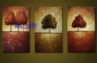 Wholesale Tree View Hot selling Handcraft Modern oil painting on canvas A83
