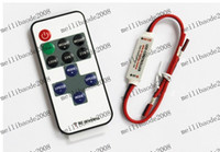 Wholesale MHJA261 RF Single Color LED Controller With Wireless Remote Control Mini Dimmer for