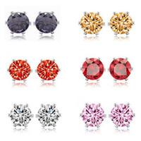 Cheap Factory Promotion Crystal Earrings Korean jewelry Crown Zircon Earring Free Shipping LM-E039