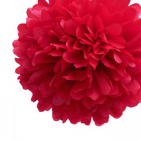 Wholesale tissue pom pom paper poms for wedding party decorations inch per