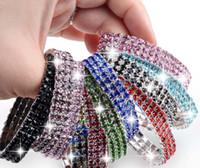 Wholesale 12pcs Stretch Crystal Rows Rhinestone Fashion Girl Lady Bracelet Jewelry B418M